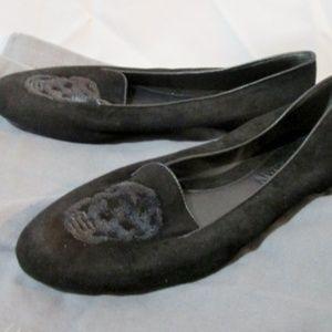 NEW ALEXANDER MCQUEEN Suede SKULL Moc Loafer Shoe